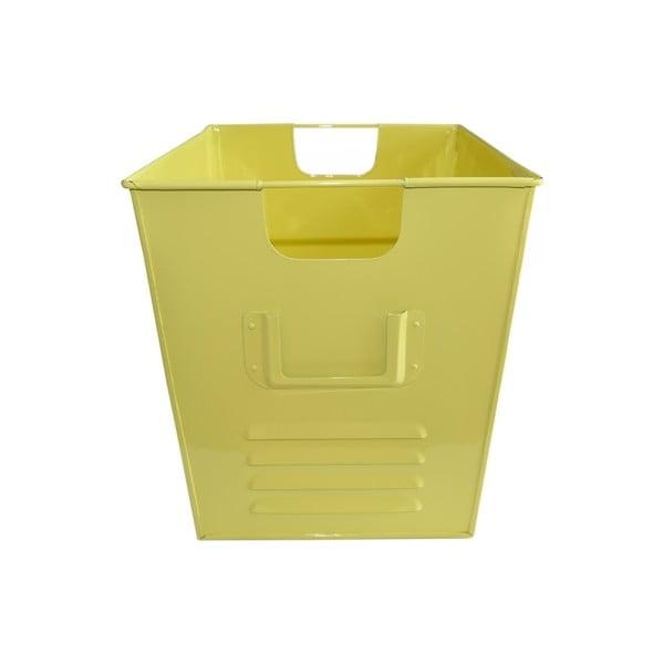 Plechový koš Waterquest 34x30 cm, pastelově žlutý