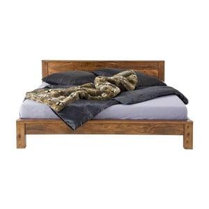 Pat din lemn exotic Kare Design Authentico Bett, 180 x 200 cm