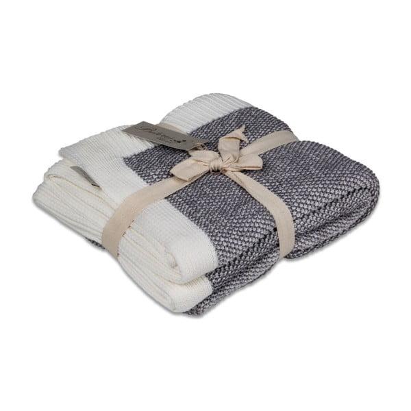 Tmavě šedá bavlněná deka Couture