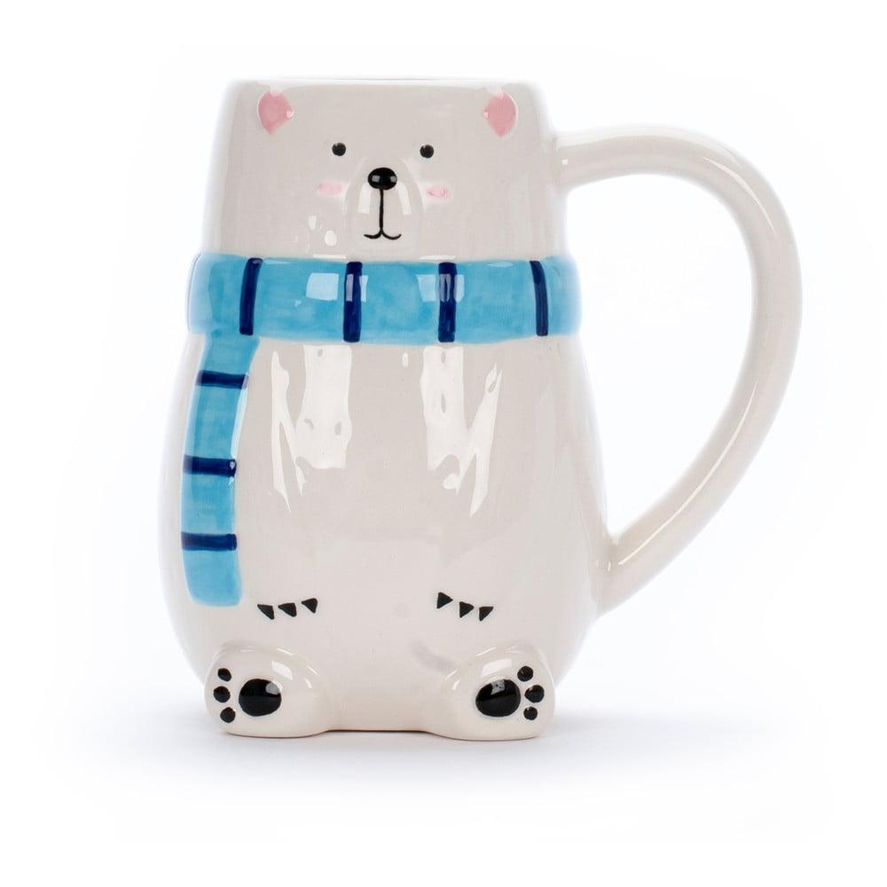 Bílý keramický hrnek Tri-CoastalDesign Polar Bear