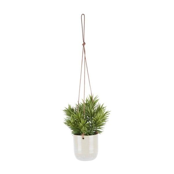 Bílý keramický závěsný květináč PT LIVING, Ø 10 cm