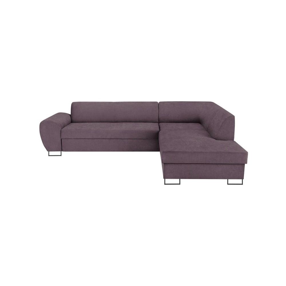 Fialová rohová rozkládací pohovka s úložným prostorem Kooko Home XL Right Corner Sofa Puro