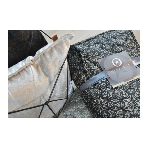 Polštář Overseas Lace Smoke/White, 45 x 45 cm