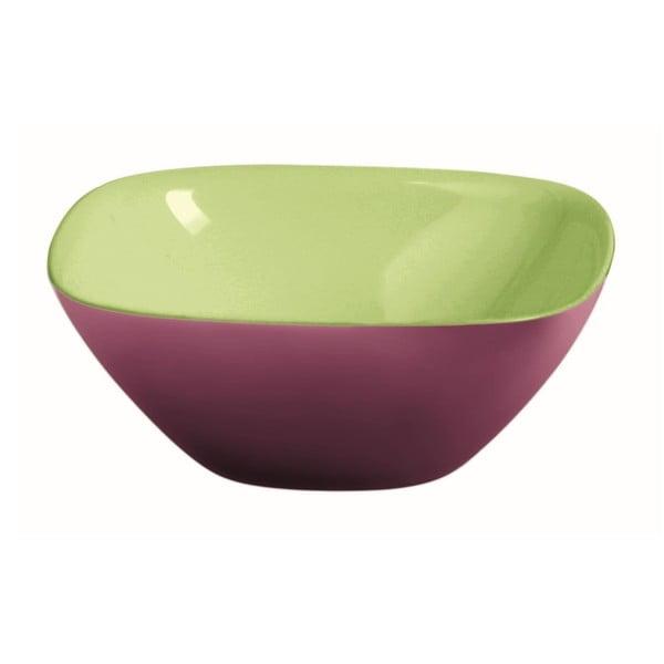 Zeleno-fialová miska Fratelli Guzzini Glam, 25 cm