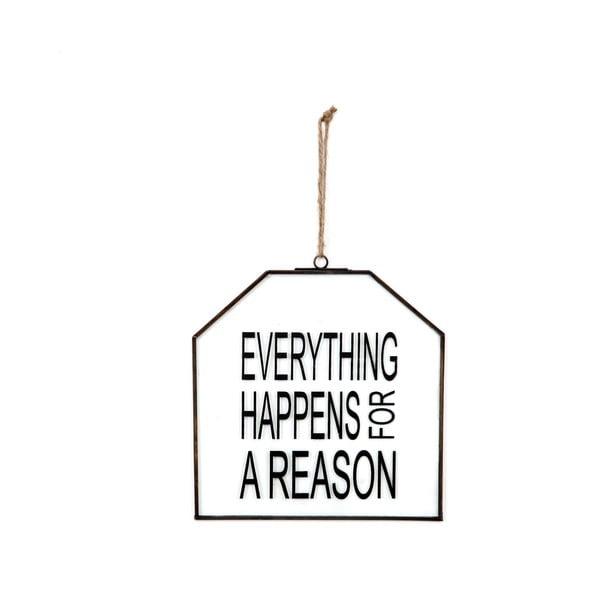Skleněná tabulka s nápisem Everything, 20x22 cm