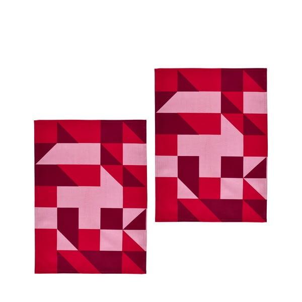 Set 2ks utěrek Zone, 70x50 cm, červená