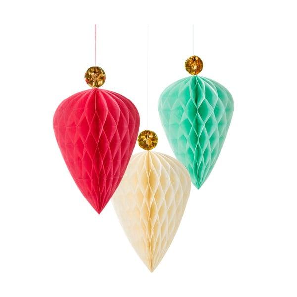 Papírové dekorace Honeycomb Jewel, 3 kusy