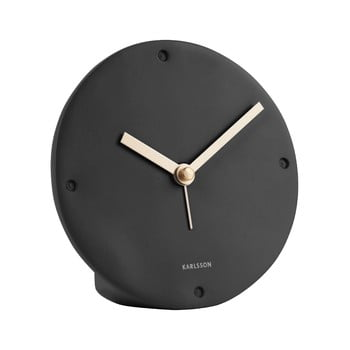Ceas cu alarmă Karlsson Mantel, negru, ø 12 cm imagine