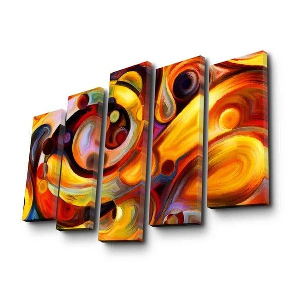5dílný nástěnný obraz na plátně Auburn Psychadelic