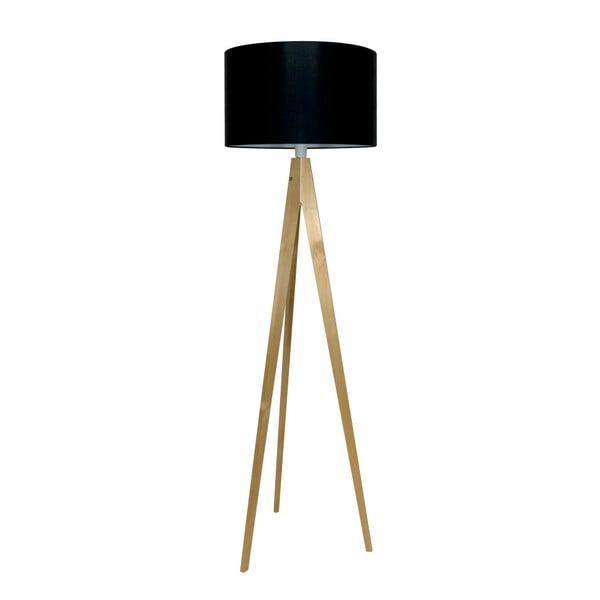 Černá stojací lampa 4room Artist, bříza, 150 cm
