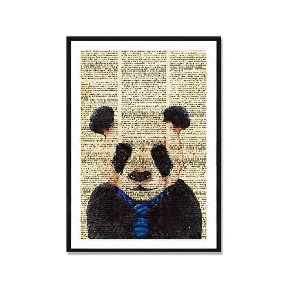 Zarámovaný plakát Really Nice Things Newspaper Panda 40 x 60 cm