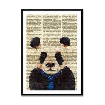 Tablou/poster înrămat Really Nice Things Newspaper Panda, 40x60cm