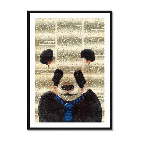 Tablou/poster înrămat Really Nice Things Newspaper Panda, 40 x 60 cm