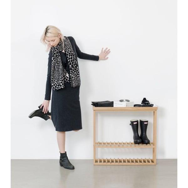 Botník/úložný stolek s bílou deskou Wireworks Hello Storage