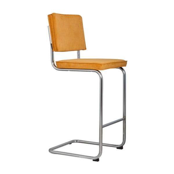 Žlutá barová židle Zuiver Ridge Rib