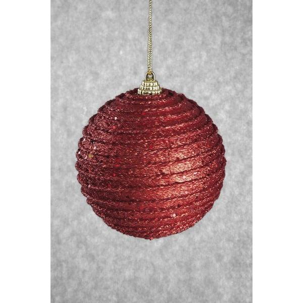 Set 6 decorațiuni din plastic pentru Crăciun DecoKing Rudolf, roșu