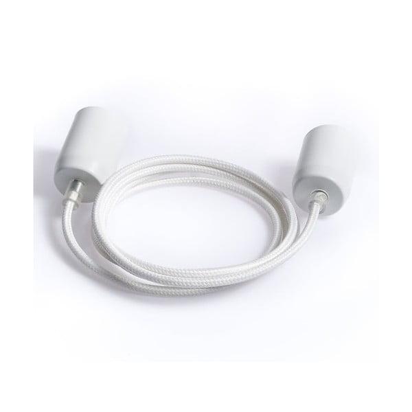 Barevný kabel Loft Metal, bílý bez