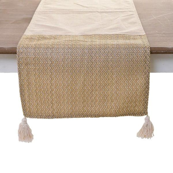 Napron pentru masă InArt, 140 x 40 cm, bej