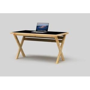 Psací stůl Only Wood Desk X s černou deskou