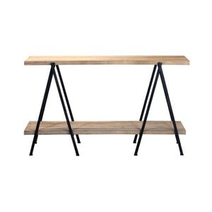 Odkládací stolek z borovicového dřeva se dvěma policemi Red Cartel
