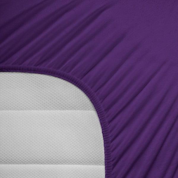 Fialové elastické prostěradlo Homecare,140x200cm