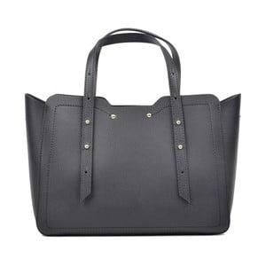 Černá kožená kabelka Carla Ferreri Halluka Nero