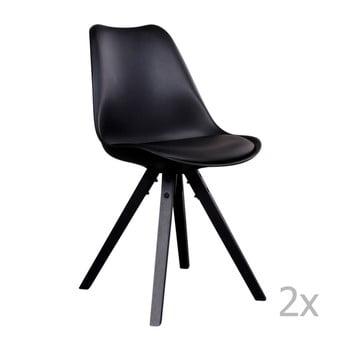 Set 2 scaune House Nordic Bergen, negru de la House Nordic