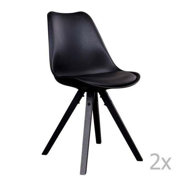 Set 2 scaune House Nordic Bergen, negru