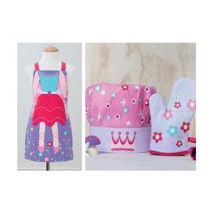 Dětská sada zástěry, čepice a kuchyňské rukavice Garden Fairy