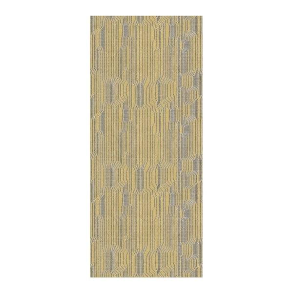 Covor Floorita Circuit Ochre, 60 x 240 cm