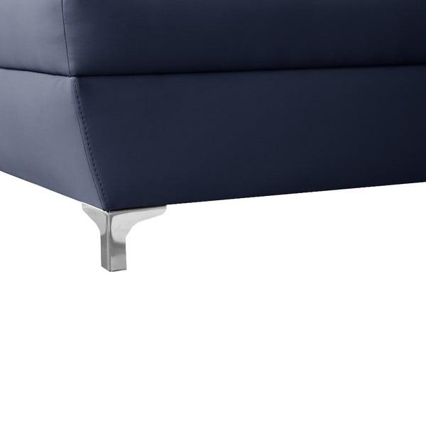 Modrá pohovka Modernist Cardigan, levý roh