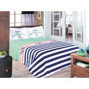 Set přehozu přes postel a prostěradla U.S. Polo Assn. Wiliston,200x220cm