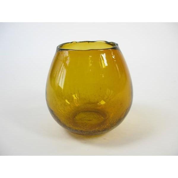 Svícen z recyklovaného skla Nature, 10 cm
