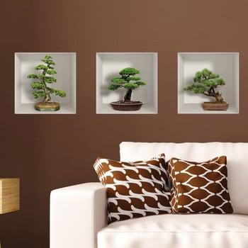 Set 3 autocolante 3D pentru perete Ambiance Bonzais de la Ambiance