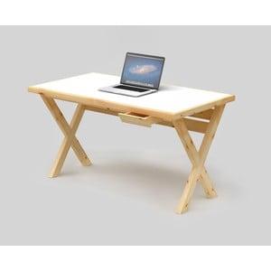 Psací stůl Only Wood Desk X s bílou deskou