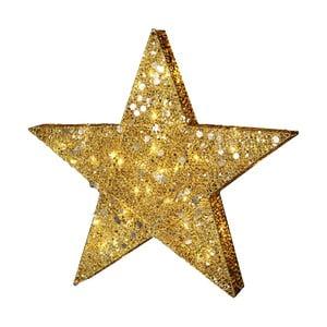 Svítící LED dekorace Best Season Golden Star,výška 70cm