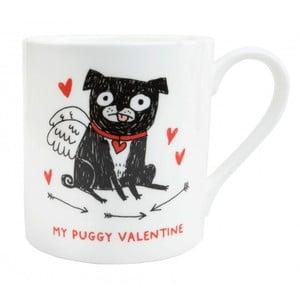 Hrnek z kostního porcelánu Ohh Deer My Puggy Valentine, 325 ml