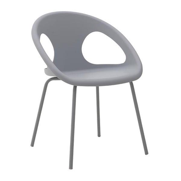 Šedá židle InArt Lide