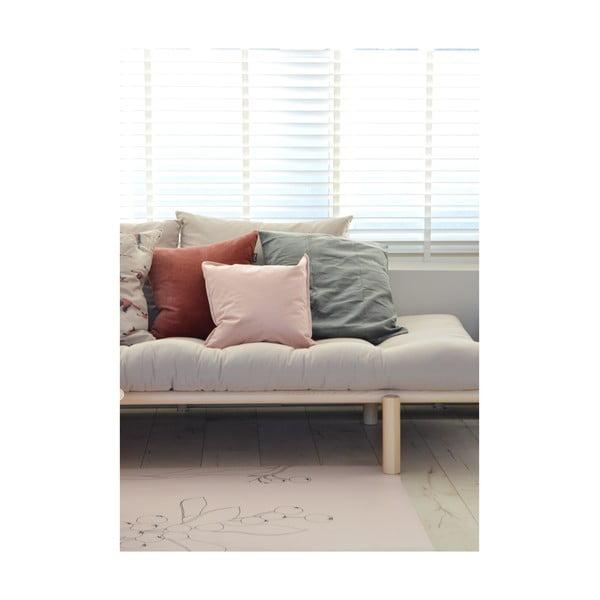 Sada 2 polštářů s výplní Karup Deco Cushion Pink Peonie/Natural,45 x 45 cm