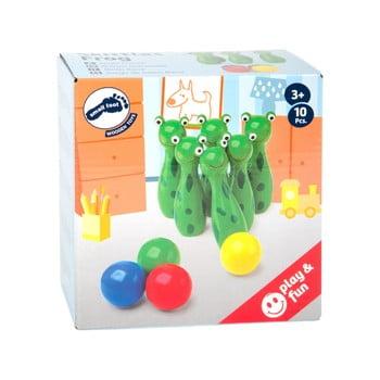 Bowling din lemn pentru copii Legler Frog imagine