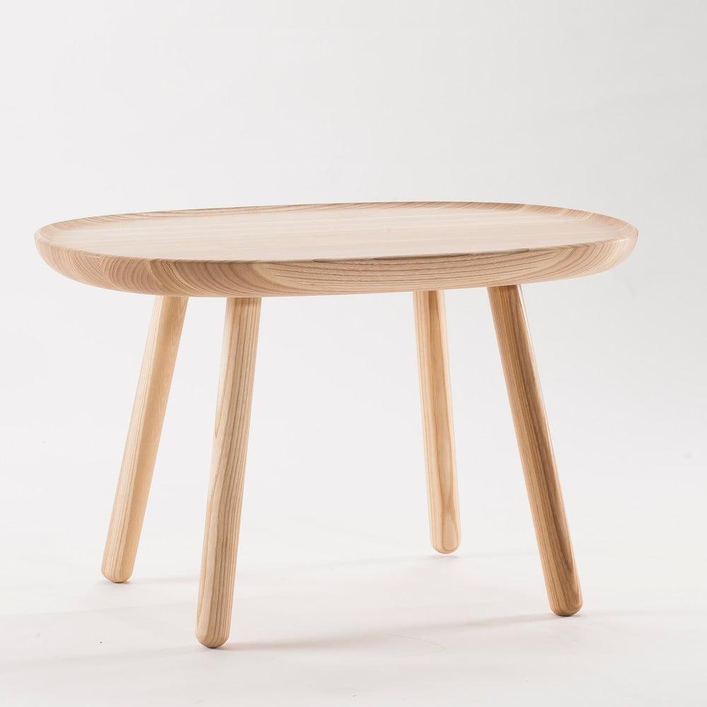 Přírodní odkládací stolek z masivu Emko Naïve Medium