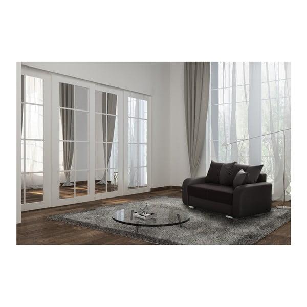 Canapea cu 2 locuri INTERIEUR DE FAMILLE PARIS Destin, maro