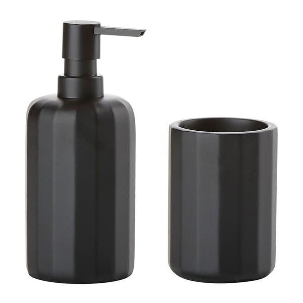 Černý dávkovač mýdla a kelímek Zone Graphic