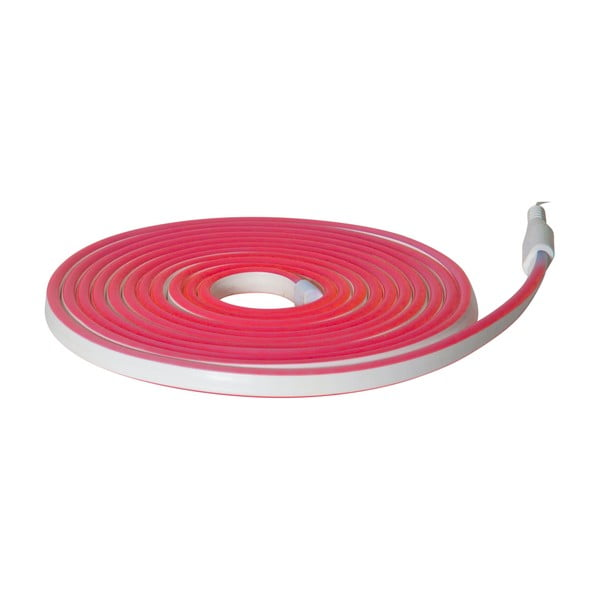 Șirag luminos pentru exterior Best Season Rope Light Flatneon, lungime 500 cm, roșu