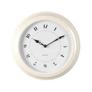 Krémové nástěnné hodiny Present Time Fifties, průměr 30cm