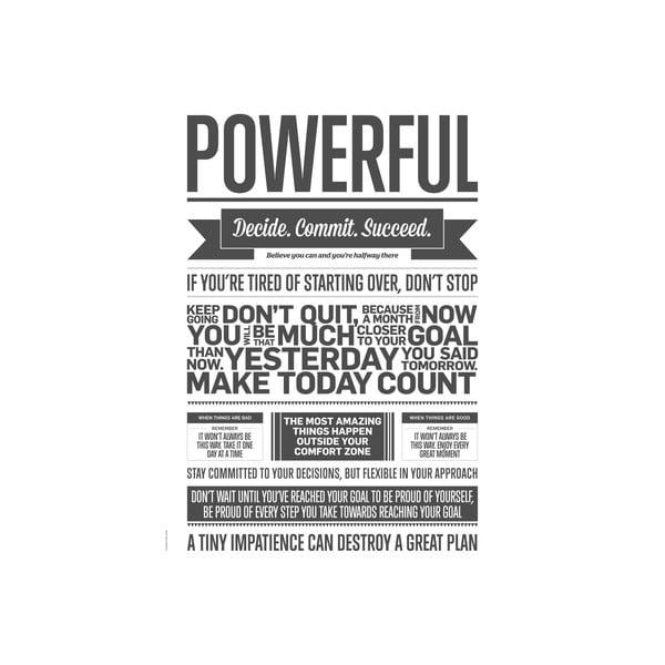 Autorský plakát Grey Powerful, 50x70 cm