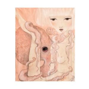 Autorský plakát od Lény Brauner Oktopus, 48x58 cm