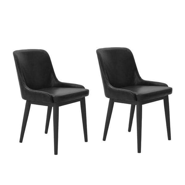 Sada 2 jídelních židlí Edgar, černé