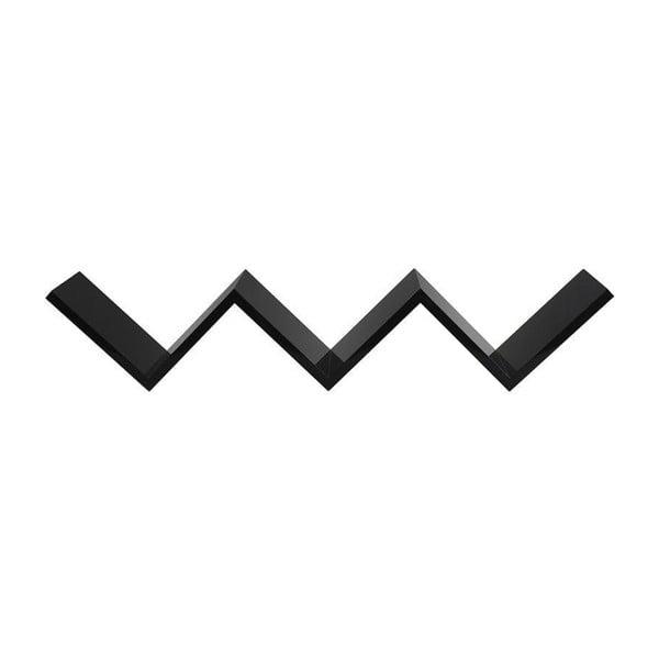 Nástěnná police W Black, 82x15x17 cm