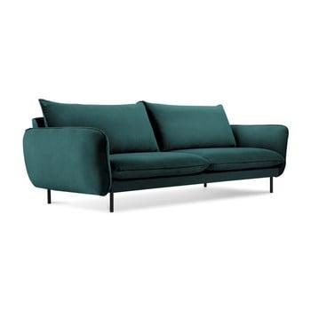 Canapea cu 4 locuri Cosmopolitan Design Vienna, albastru petrol de la Cosmopolitan Design